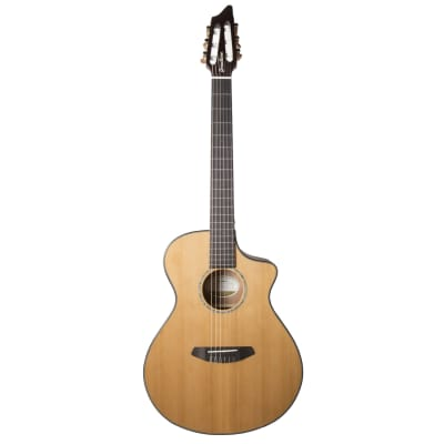 Breedlove Pursuit Nylon CE Red Cedar/Mahogany Concert with Built-in Electronics Natural 2018