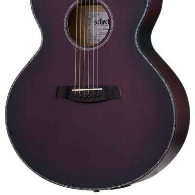 Schecter 3710 Orleans Stage Acoustic Electric Guitar Vampyre Red Burst Satin for sale