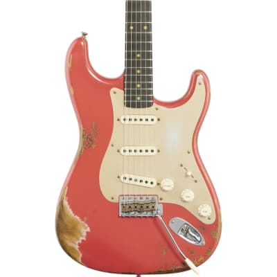 Fender Custom Shop '59 Roasted Heavy Relic Stratocaster Electric Guitar (with Case), Aged Fiesta Red