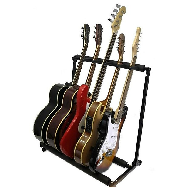 5 guitar stand holds 5 guitars multiple display rack holds reverb. Black Bedroom Furniture Sets. Home Design Ideas