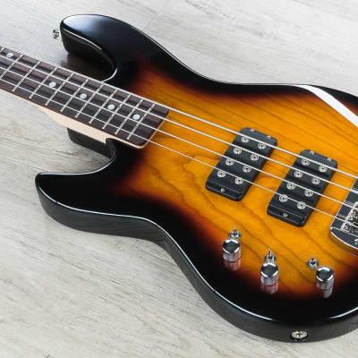 G&L Tribute L-2000 Lefty 4-String Electric Bass Left-Handed 3-Tone Sunburst