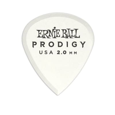 Ernie Ball 2.0mm White Mini Prodigy Picks 6-Pack for sale