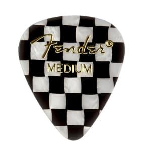 Fender 351 Premium Celluloid Guitar Picks - MEDIUM CHECKERED - 12-Pack (1 Dozen) for sale