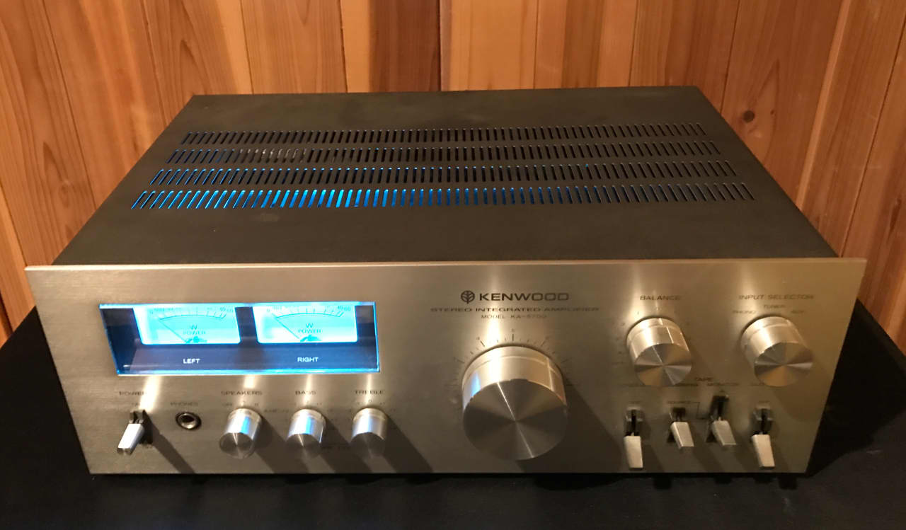 Kenwood Ka 5700 Integrated Stereo Amplifier Silver Face
