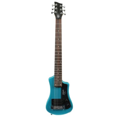 Hofner Shorty CT Blue electric travel guitar for sale