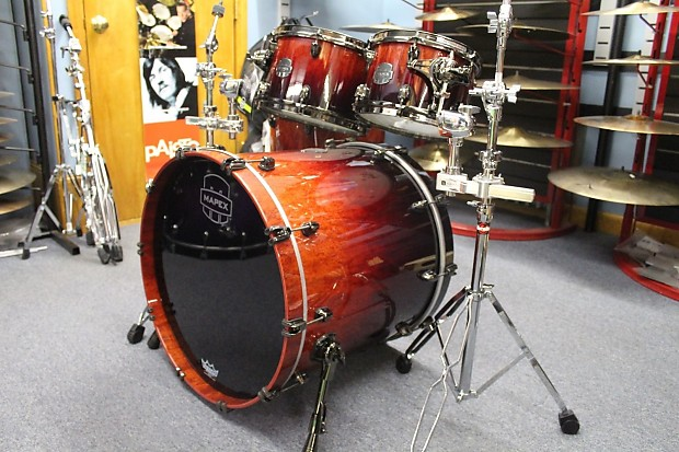 Mapex saturn iv cherry mist rosewood burl for 16x14 floor tom