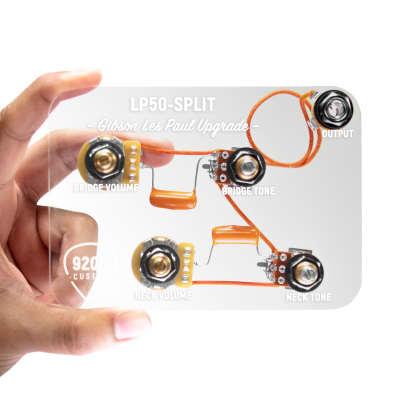 920D Custom LP50-SPLIT Upgraded Les Paul Wiring Harness w/ Coil Split Mod