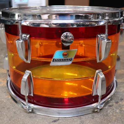 Ludwig 9x13 Vistalite Rack Tom Drum Tequila Sunrise Vintage 1970's