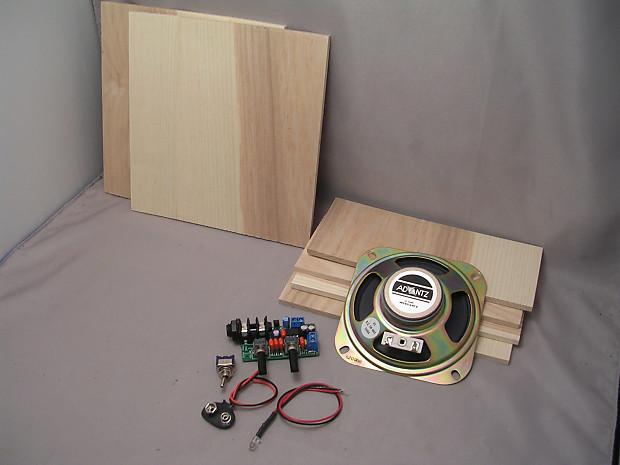 9v mini guitar amp kit with 4 speaker ash hardwood to reverb. Black Bedroom Furniture Sets. Home Design Ideas