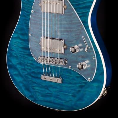 Ernie Ball Music Man Steve Morse HH Tahitian Blue Quilt (368)