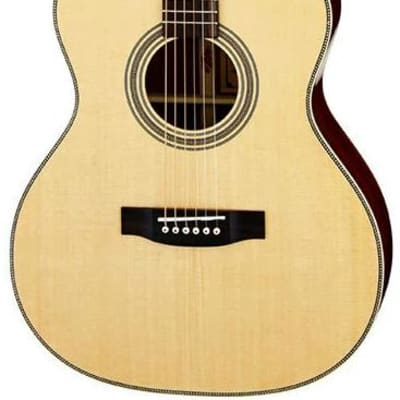 ARIA AR501 - ALL SOLID OM SPRUCE MAHOGANY ACOUSTIC WITH CASE for sale