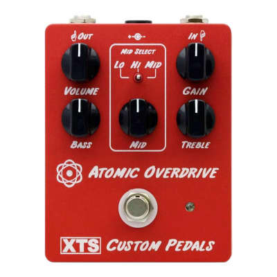 XTS Atomic Overdrive Pedal - High Gain British Overdrive