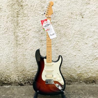 Fender American Deluxe Stratocaster HSS 2012 3-Color Sunburst w/ Hard Case for sale