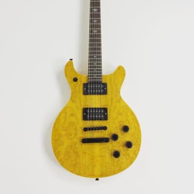 Haze Solid Body Double cut LP Style Electric Guitar, HH, Ash Burl Top +Free Bag |SCPG 280BNABH| for sale