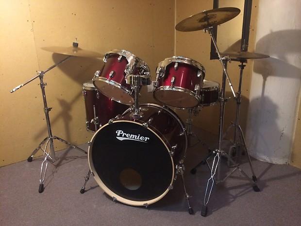 Premier Cabria 5 Piece Drum Kit Complete Reverb