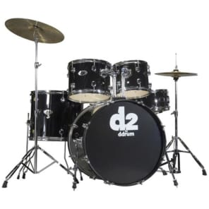 "ddrum D2 10"" / 12"" / 16"" / 22"" / 14x5.5 Shell Pack with Hardware Kit, Cymbals"