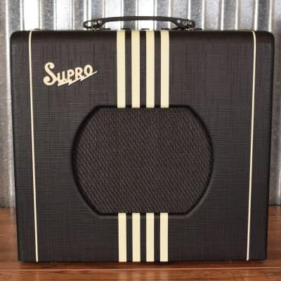 "Supro Delta King 10 All Tube 5 Watt 10"" Guitar Combo Amplifier Black Cream 1820RBC"