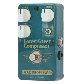 MAD PROFESSOR Forest Green Guitar and Bass Compressor/Sustainer Pedal for sale
