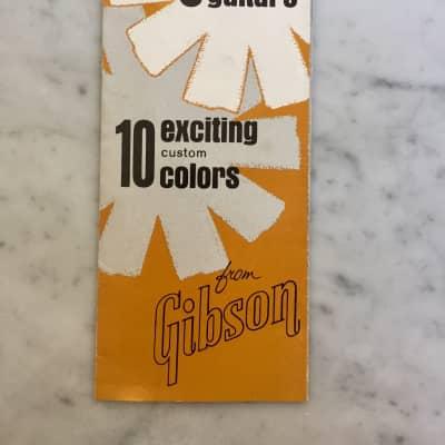 1960's Gibson Thunderbird Firebird Color Chart Collector Case Candy Vintage Rare Brochure Foldout