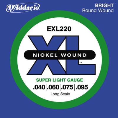 D'Addario EXL220 XL Nickel Bass Strings Super Light Gauge/Long Scale 40-95