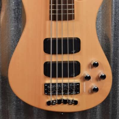 Warwick Rockbass Steamer Standard Natural 5 String Bass & Bag #3018
