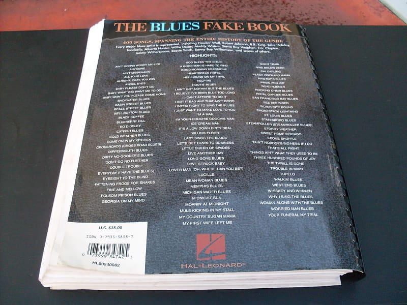 The Blues Fakebook - Hal Leonard Publication | Reverb