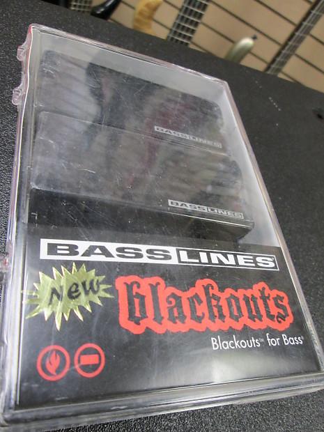 SEYMOUR DUNCAN BLACKOUTS 4 STRING BASS SET ASB-BO-4s