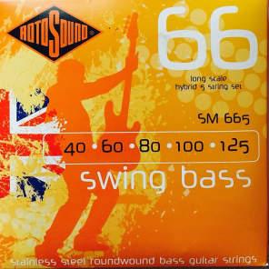 Rotosound SM665 Swing Bass 66 Roundwound 5-String Bass Strings - Hybrid (40-125)
