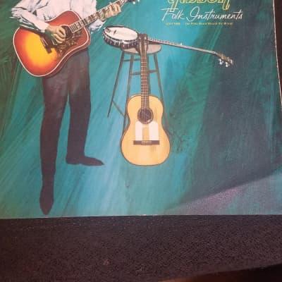 Gibson Flat Tops , Classics, Banjos, Tenors Catalog 1963 Color Cover B&W Inside