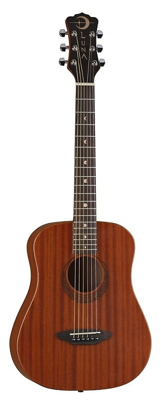 Luna Safari Series Muse Mahogany 3 4 Size Travel Acoustic