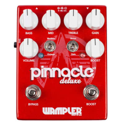 Wampler Pinnacle Deluxe V2 Drive & Boost Guitar Effects Pedal