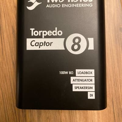 Two Notes Torpedo Captor Reactive Loadbox DI and Attenuator - 8 ohm 2017 Black