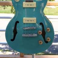 Fishbone Blues Man F35-LP-FH Green F Holes Semi Hollow-body 2016 for sale
