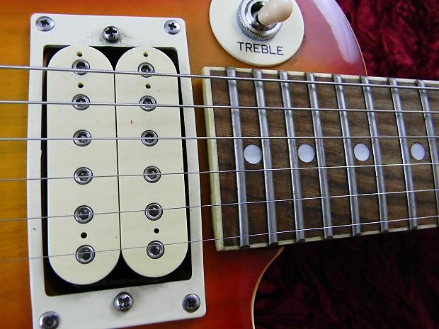 lotus vintage 1980s mini electric guitar sunburst short scale reverb. Black Bedroom Furniture Sets. Home Design Ideas