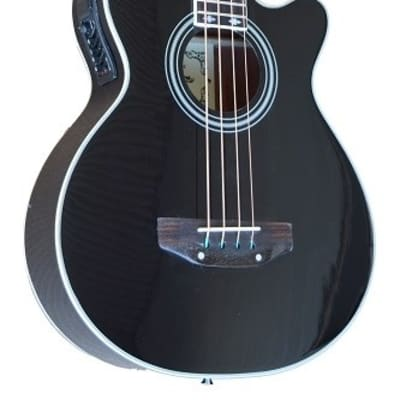 NEW Black MADERA AB470CE Acoustic Bass Guitar With Pickup for sale