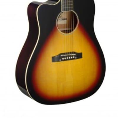 Stagg Slope Shoulder Left Handed Acoustic-Electric Guitar Sunburst