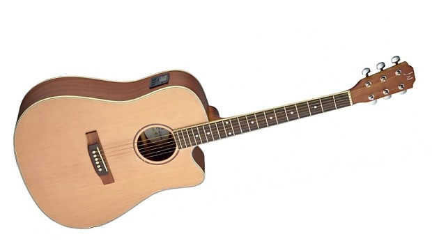 J.N Guitars ASY-DCE Electro Acoustic Guitar Solid Spruce Top