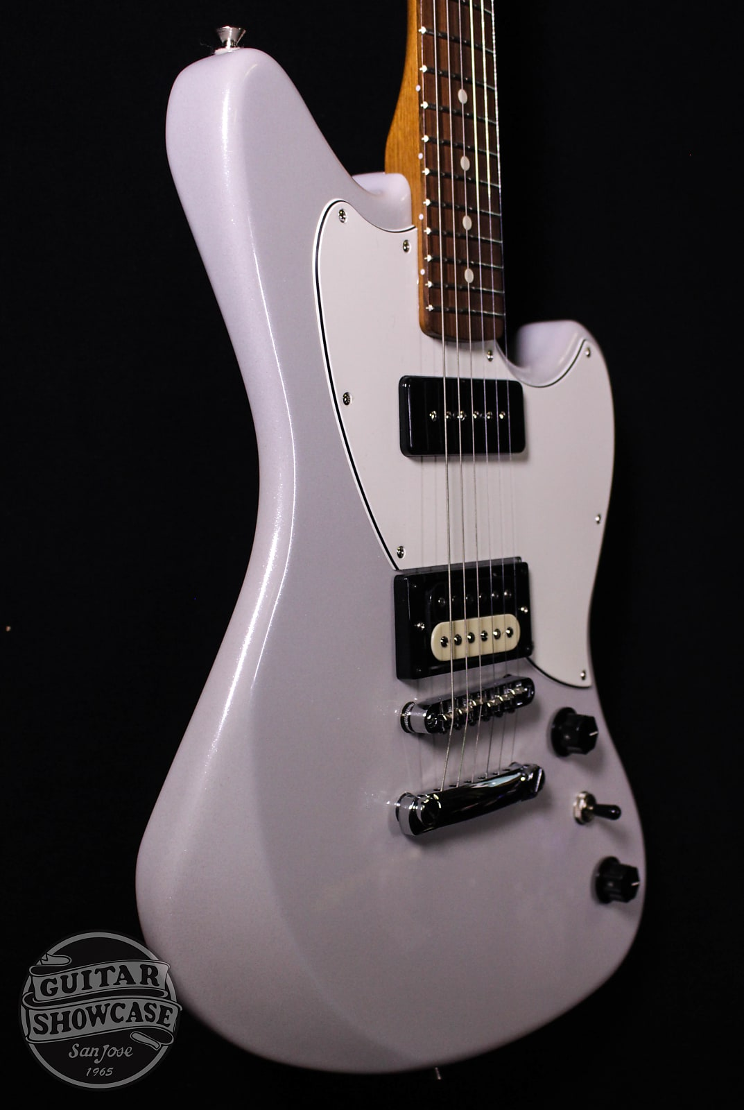 Fender Alternate Reality Series Powercaster with Pau Ferro Fretboard 2019 White Opal