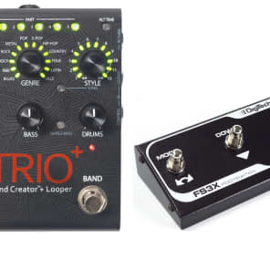 DigiTech Trio+ Band Creator Plus Looper with FS3X Foot Switch!