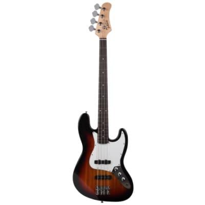 Glarry Glarry GJazz Electric Bass Guitar w/ 20W Electric Bass Amplifier Sunset 2021 Sunset for sale