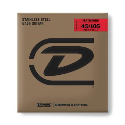 Dunlop Bass Flatwound Medium Scale 45/105 4/Set Dbfs45105 M
