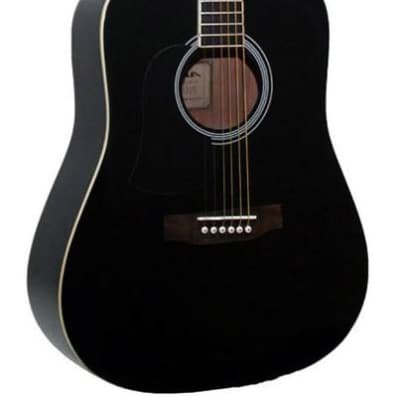 Aria AW-15 Left Handed Dreadnought Acoustic Guitar in Black for sale