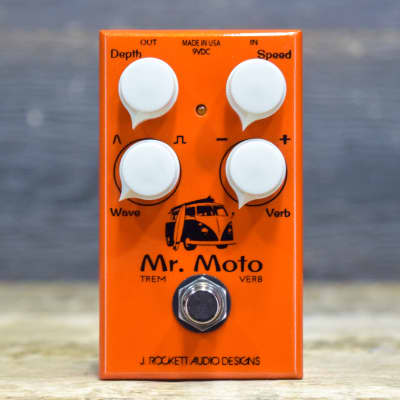 J. Rockett Audio Designs Mr. Moto Tour Series Tremolo & Reverb Effect Pedal for sale