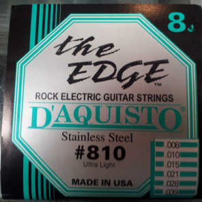 D'aquisto Stainless Steel Strings .008 guage with 2 extra E strings for sale