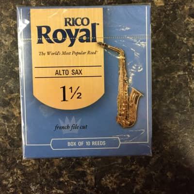Rico Royal French Cut 1.5 Alto Sax Reeds box 10