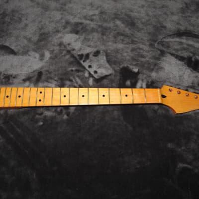 Mighty Mite MM2902V Maple Stratocaster Neck Soft V Profile Vintage Tint Tru Oil Finish!