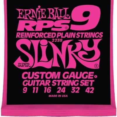 Ernie Ball RPS Reinforced Slinky Nickel Wound Electric Guitar Strings - RPS SUPER SLINKY 9-42