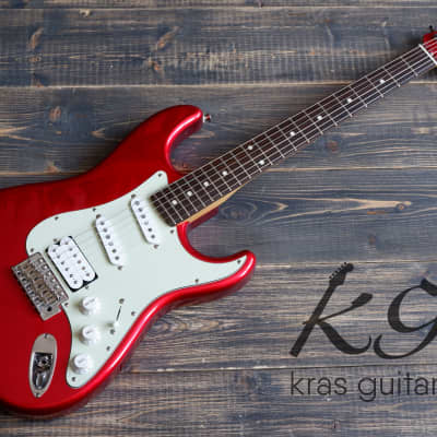 History SZ-1HM CAR Fat Strat 2005 Candy Apple Red for sale