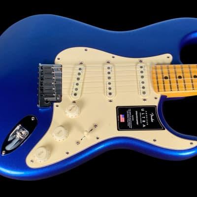 2021 Fender Stratocaster American Ultra Strat with Maple Fretboard ~ Cobra Blue for sale