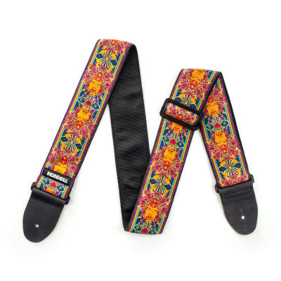 Dunlop Hendrix Poster Guitar Strap JH04 - Authentic Hendrix LLC Approved image